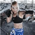 Boxeadora profesional , con años de experiencia. si lo que quieres es ponerte en forma ,o aprender una disciplina o bien tienes ganas de boxear , no lo dudes y escríbeme