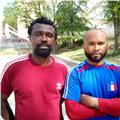 Franky y murphy, ex futbolistas con estilo de futbol brasil