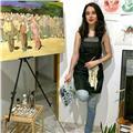 Artista e ilustradora freelance en distintos medios (óleo, acuarela, tinta, grafito...) y temas (retrato, escena, paisaje)