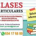 Maestro de educación primaria, educación especial y orientación educativa se ofrece para dar clases particulares a domicilio o en mi domicilio