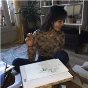 Jeune artiste diplômée donne des cours de peinture et de dessin